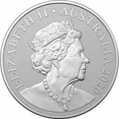 2020 $1 Kangaroo Series - Red Kangaroo 1oz .999 Silver Frosted Uncirculated Coin 3