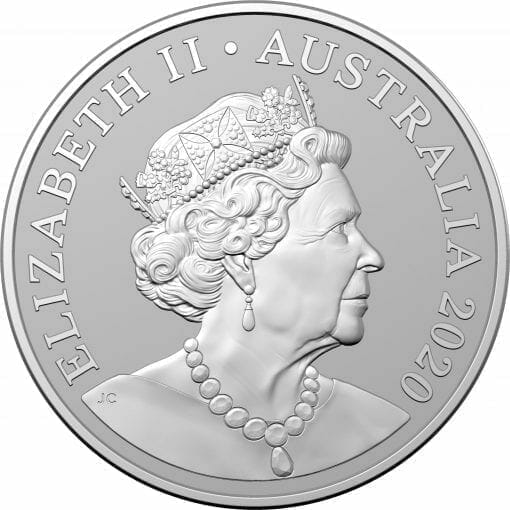 2020 $1 Kangaroo Series - Red Kangaroo 1oz .999 Silver Frosted Uncirculated Coin 2