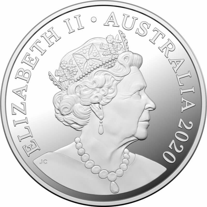 2020 $1 Qantas Centenary 1/2oz .999 Silver Proof Coin 2