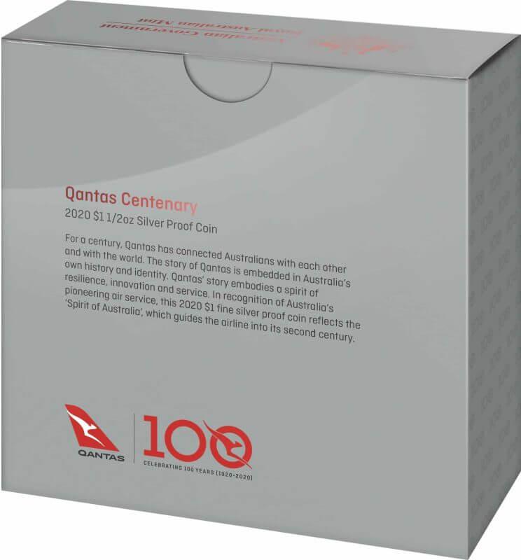 2020 $1 Qantas Centenary 1/2oz .999 Silver Proof Coin 11
