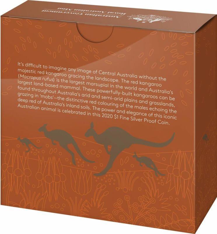 2020 $1 Kangaroo Series - Red Kangaroo 1oz .999 Silver Proof Coin 9