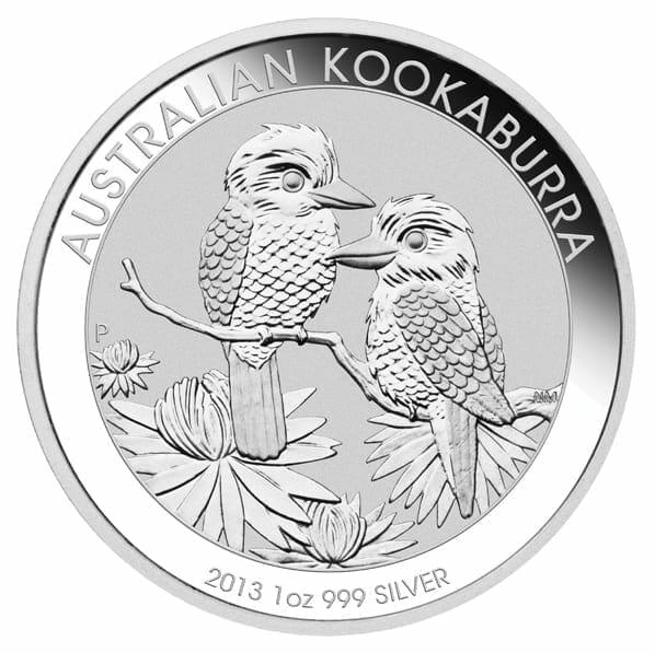 2013 Australian Kookaburra 1oz .999 Silver Bullion Coin 1