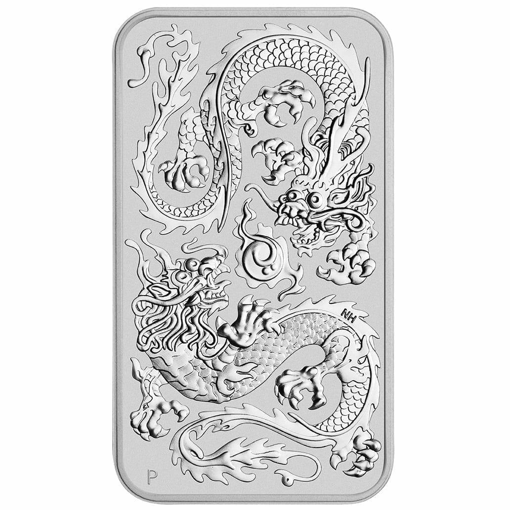2020 Dragon 1oz .9999 Silver Bullion Rectangular Coin 1