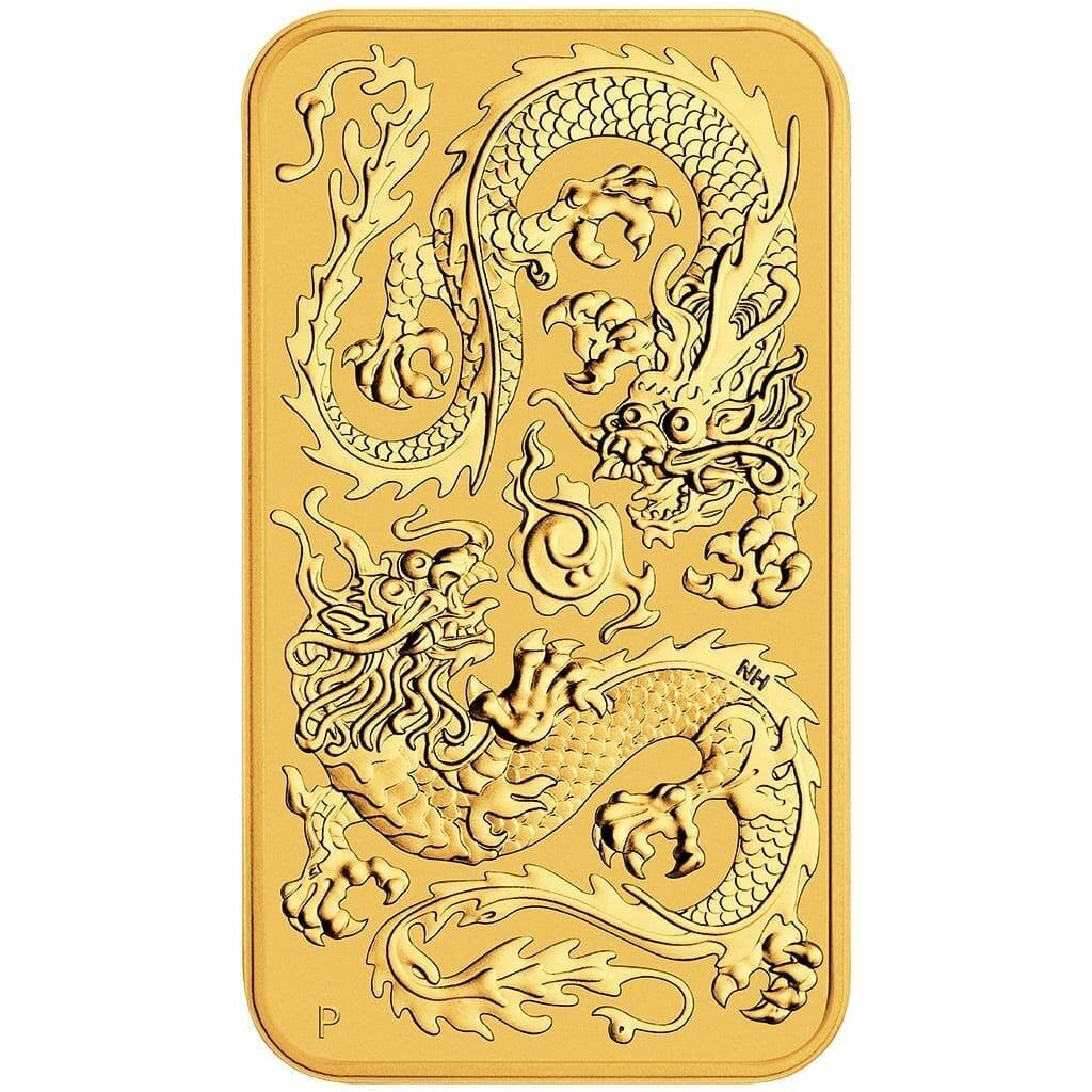 2020 Dragon 1oz .9999 Gold Bullion Rectangular Coin 1