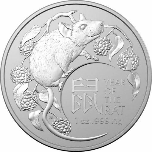 2020 Year of the Rat 1oz .999 Silver Bullion Coin - Lunar Series 1