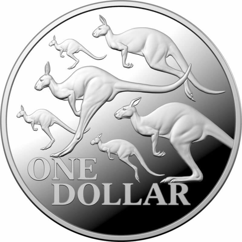 2020 $1 Kangaroo Series - Red Kangaroo 1oz .999 Silver Proof Coin 1