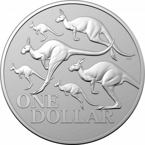 2020 $1 Kangaroo Series - Red Kangaroo 1oz .999 Silver Frosted Uncirculated Coin 1