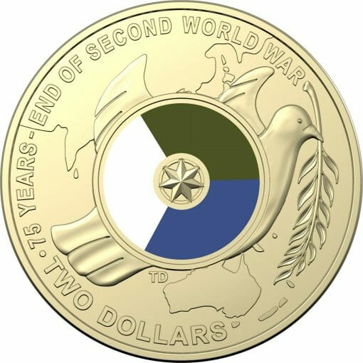 2020 $2 Mint Roll of 75th Anniversary of the End of World War II Coins - AlBr 2