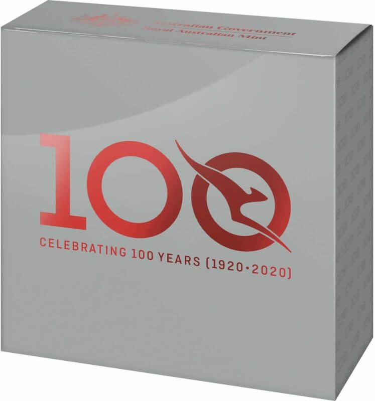 2020 $1 Qantas Centenary 1/2oz .999 Silver Proof Coin 10