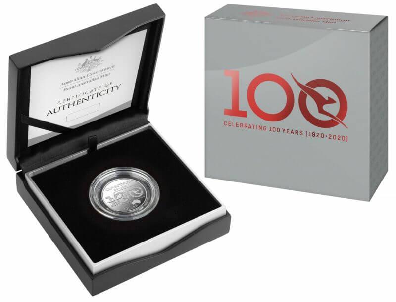 2020 $1 Qantas Centenary 1/2oz .999 Silver Proof Coin 4