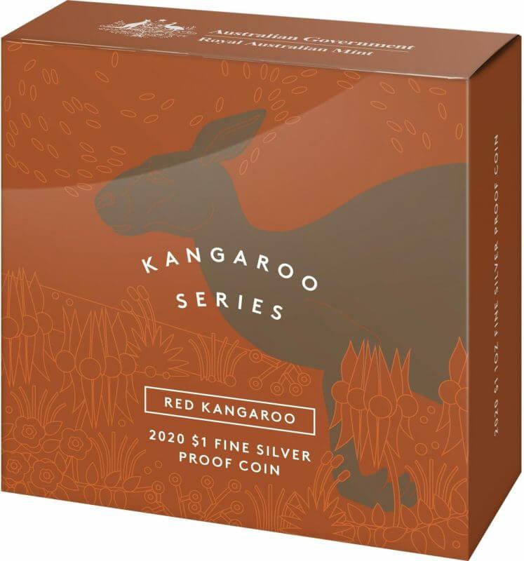 2020 $1 Kangaroo Series - Red Kangaroo 1oz .999 Silver Proof Coin 4