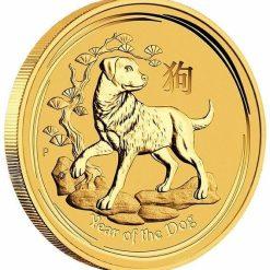2018 Year of the Dog 1/10oz .9999 Gold Bullion Coin – Lunar Series II 4