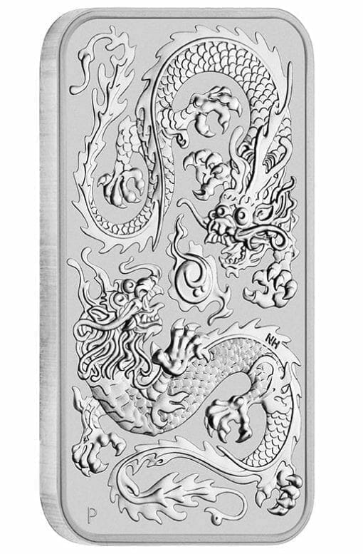 2020 Dragon 1oz .9999 Silver Bullion Rectangular Coin 2
