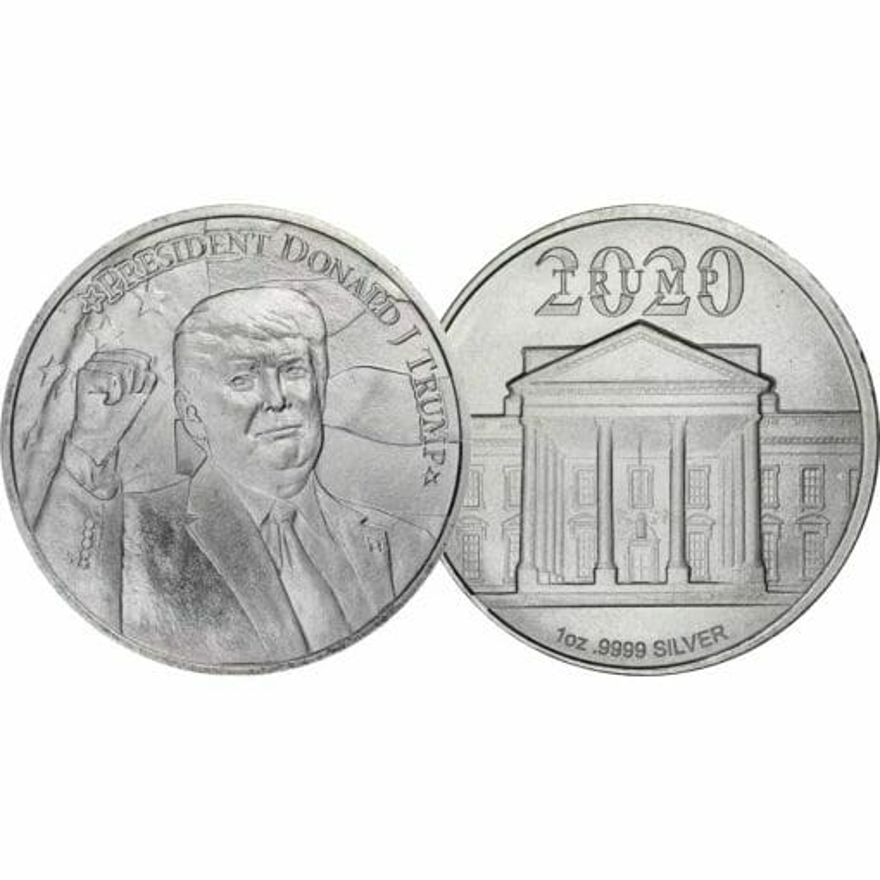 2020 President Donald J Trump 1oz .9999 Silver Bullion Round 3