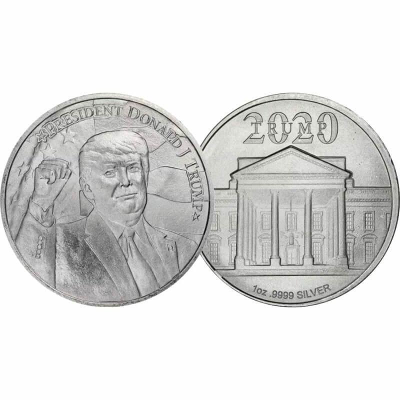 2020 President Donald J Trump 1oz .9999 Silver Bullion Round 5