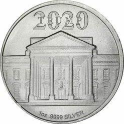 2020 President Donald J Trump 1oz .9999 Silver Bullion Round 4