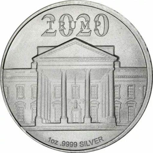 2020 President Donald J Trump 1oz .9999 Silver Bullion Round 2