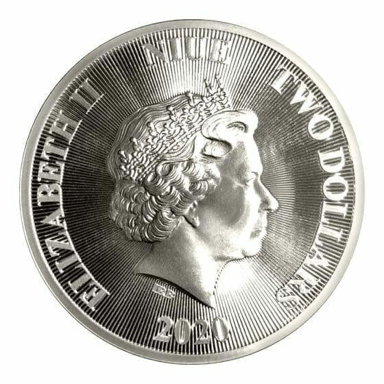 2020 Roaring Lion 1oz .9999 Silver Coin 5
