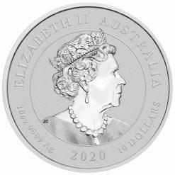 2020 Dragon & Tiger 10oz .9999 Silver Bullion Coin 5