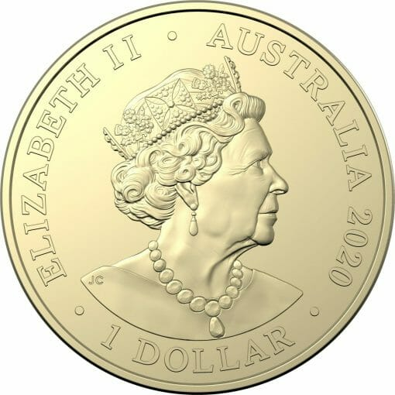 2020 $1 Australian Olympic Team - Ambassador Uncirculated Coloured Coin - AlBr 3
