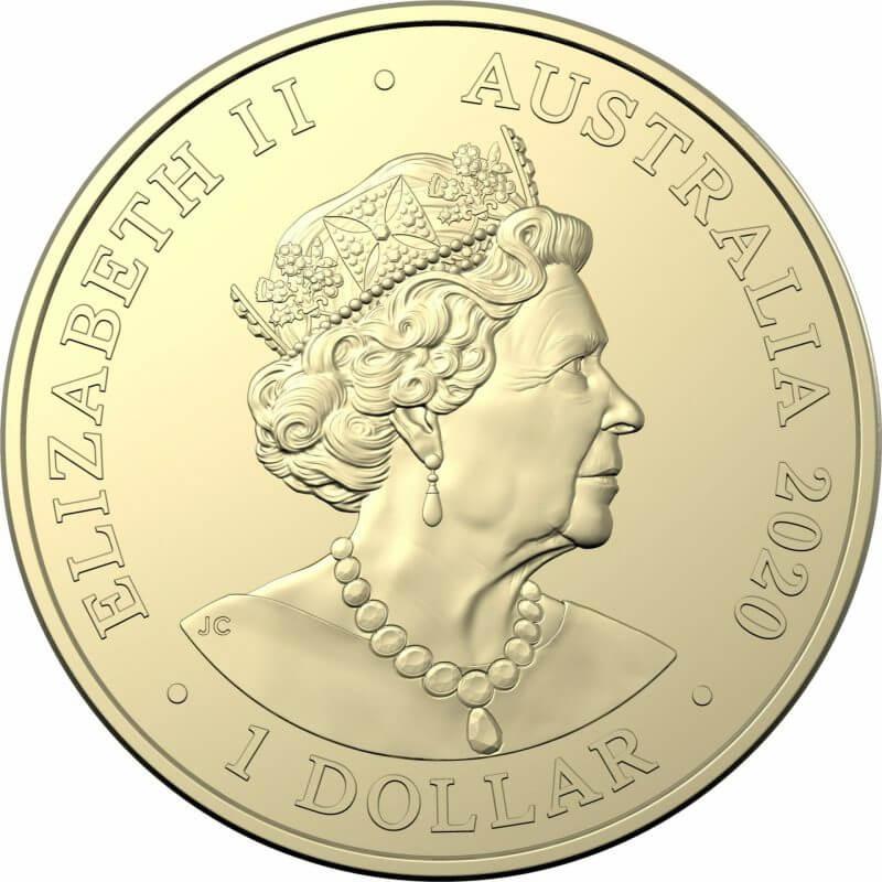 2020 $1 Australian Olympic Team - Ambassador Uncirculated Coloured Coin - AlBr 6
