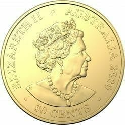 2020 50c Australian Olympic Team Round Gold Plated Uncirculated Coin - CuNi 6