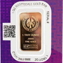 Scottsdale Mint 1oz .9999 Gold Minted Bullion Bar 3