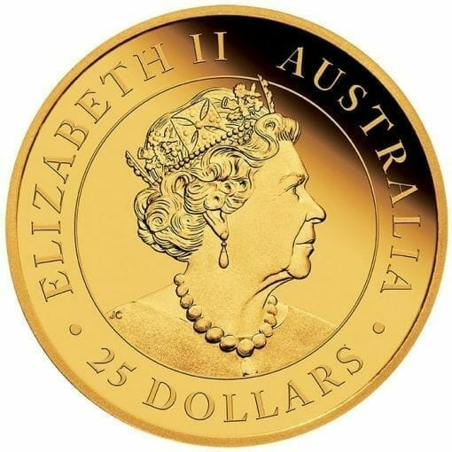 2020 Australian Kangaroo 1/4oz .9999 Gold Proof Coin 3