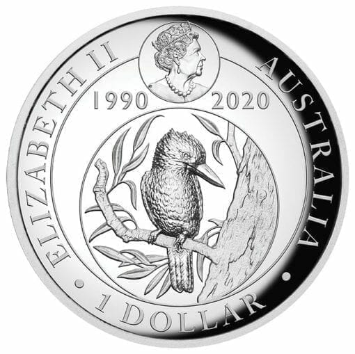 2020 Australian Kookaburra 1oz .9999 Silver Proof High Relief Coin 3