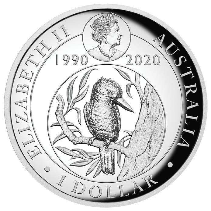 2020 Australian Kookaburra 1oz .9999 Silver Proof High Relief Coin 3