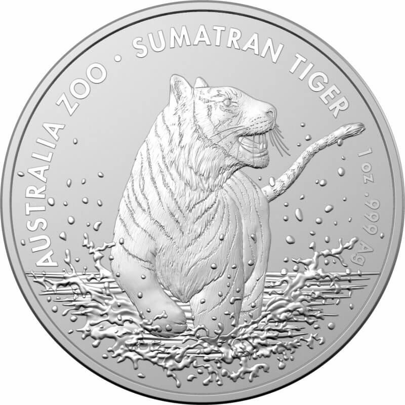 2020 Australia Zoo Series - Sumatran Tiger 1oz .999 Silver Bullion Coin 1