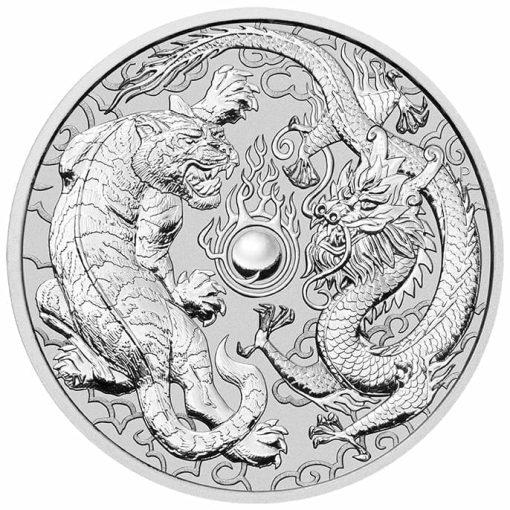 2020 Dragon & Tiger 10oz .9999 Silver Bullion Coin 1