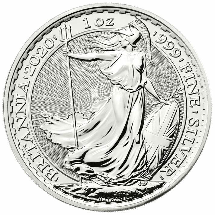 2020 Britannia 1oz .999 Silver Bullion Coin 1