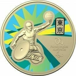 2020 $1 Australian Paralympic Team - Ambassador Uncirculated Coloured Coin - AlBr 5