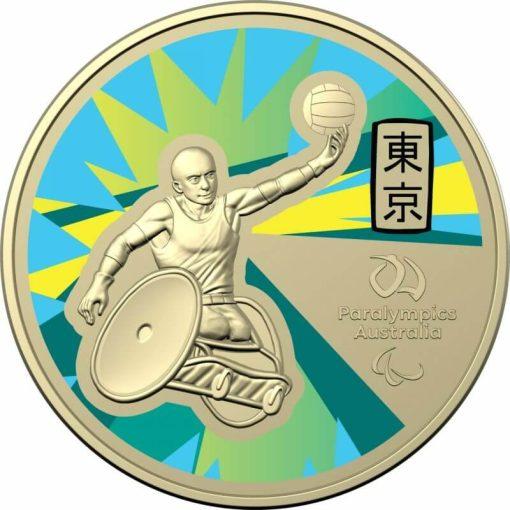 2020 $1 Australian Paralympic Team - Ambassador Uncirculated Coloured Coin - AlBr 2