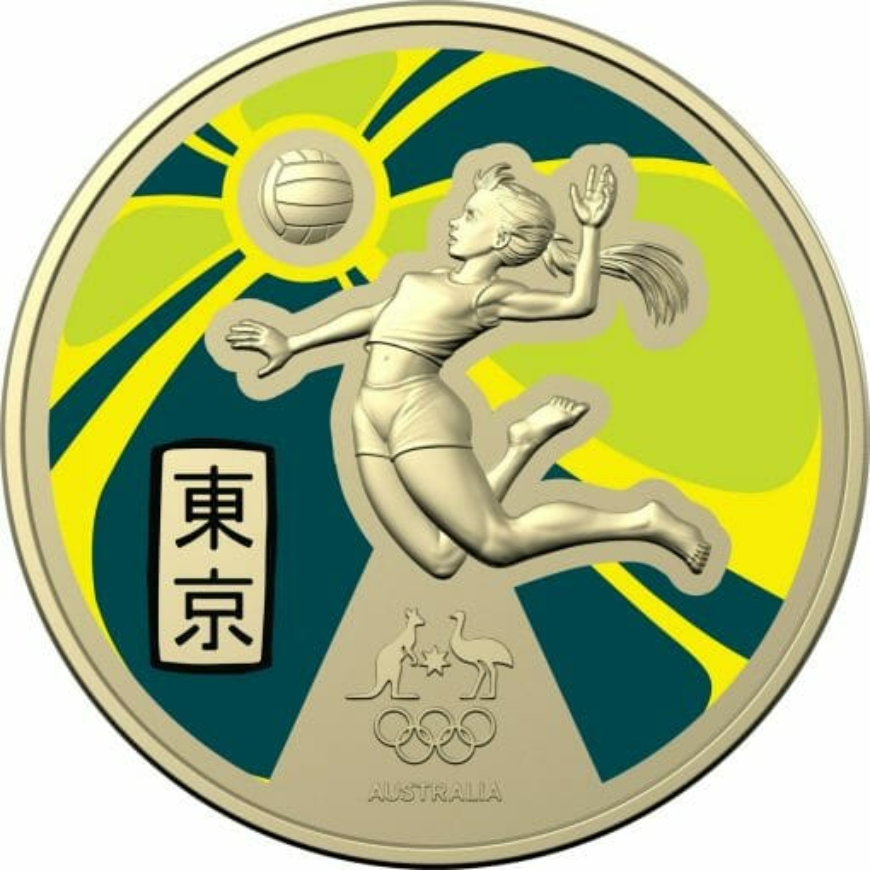 2020 $1 Australian Olympic Team - Ambassador Uncirculated Coloured Coin - AlBr 2