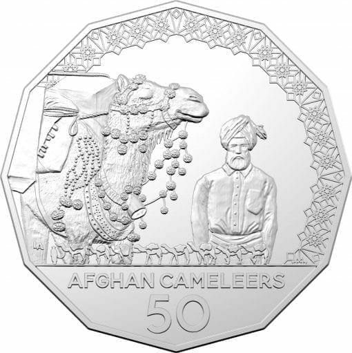 2020 50c Afghan Cameleers - Pioneers of Inland Transport Uncirculated Coin 2