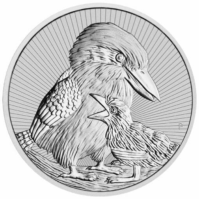 2020 Mother & Baby Kookaburra 2oz .9999 Silver Bullion Piedfort Coin 1