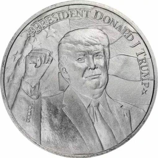 2020 President Donald J Trump 1oz .9999 Silver Bullion Round 1