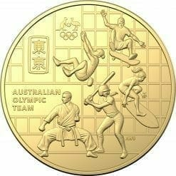 2020 50c Australian Olympic Team Round Gold Plated Uncirculated Coin - CuNi 5