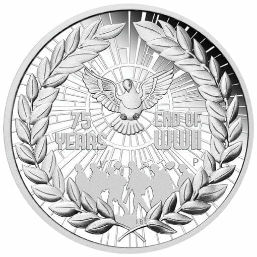 2020 End of WWII 75th Anniversary 1oz .9999 Silver Proof Coin 1