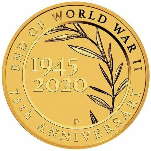 2020 End of WWII 75th Anniversary 0.5g .9999 Gold Proof Coin in Card 2