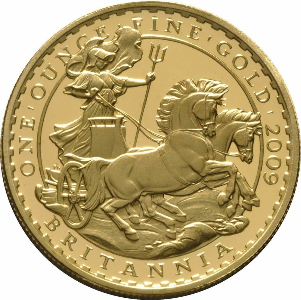 2009 Britannia Four Coin Gold Proof Set - 1.85oz 2