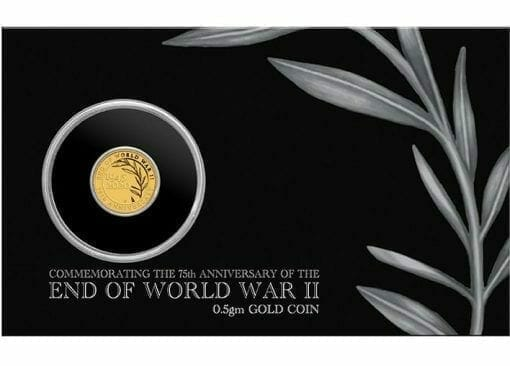 2020 End of WWII 75th Anniversary 0.5g .9999 Gold Proof Coin in Card 5