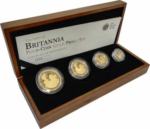 2009 Britannia Four Coin Gold Proof Set - 1.85oz 1