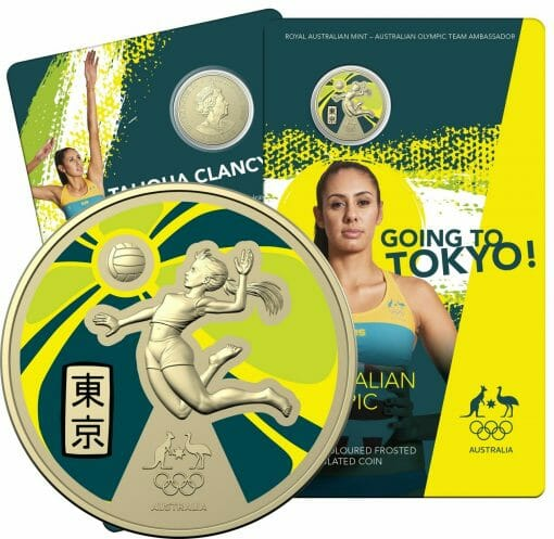 2020 $1 Australian Olympic Team - Ambassador Uncirculated Coloured Coin - AlBr 1