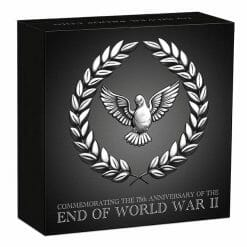 2020 End of WWII 75th Anniversary 1oz .9999 Silver Proof Coin 9