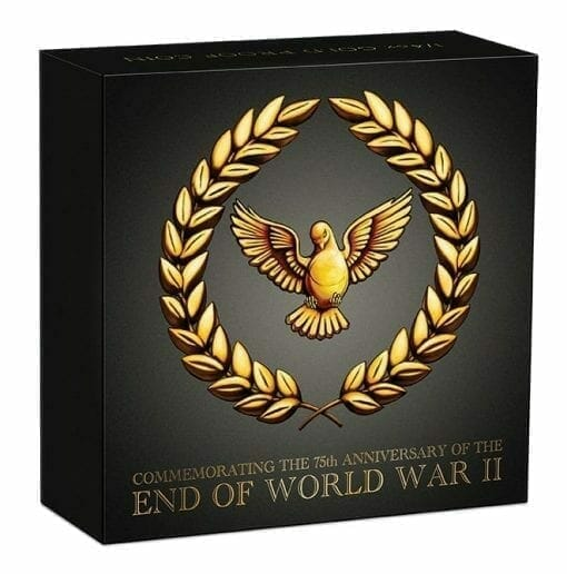 2020 End of WWII 75th Anniversary 1/4oz .9999 Gold Proof Coin 5