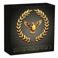 2020 End of WWII 75th Anniversary 1/4oz .9999 Gold Proof Coin 9