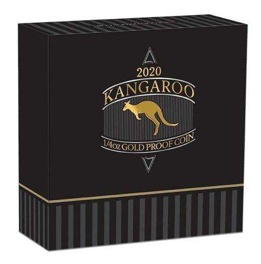 2020 Australian Kangaroo 1/4oz .9999 Gold Proof Coin 5